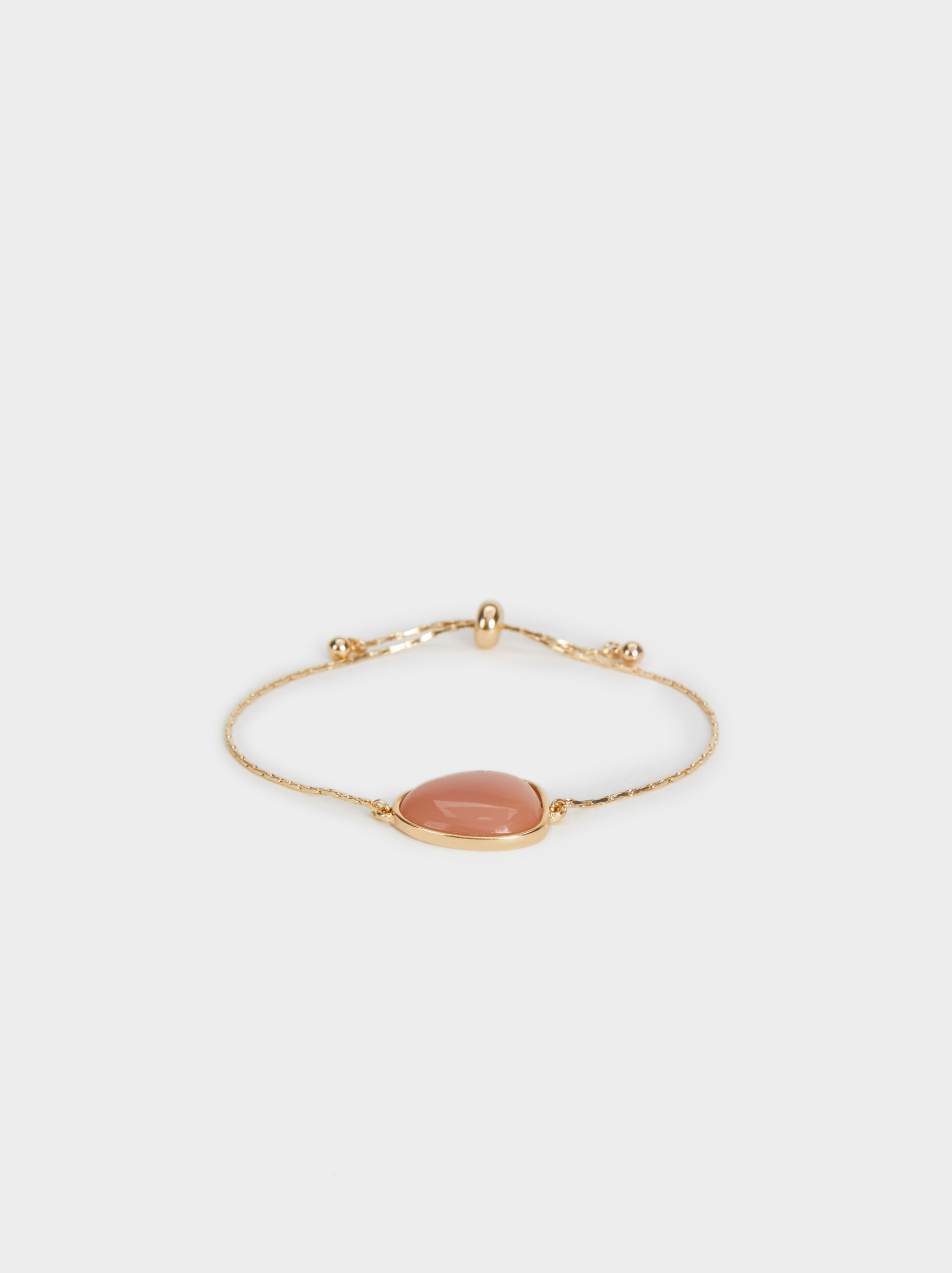 Land Adjustable Bracelet With Stone, Brick Red, hi-res
