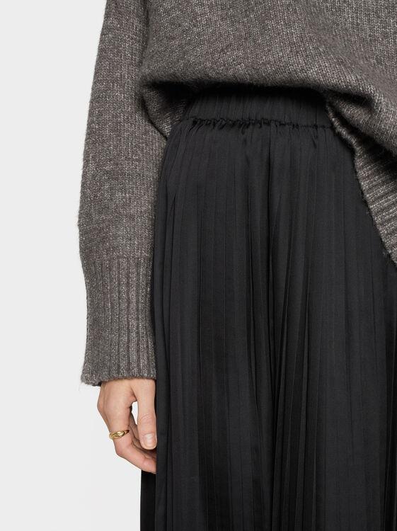 Pleated Skirt, Black, hi-res