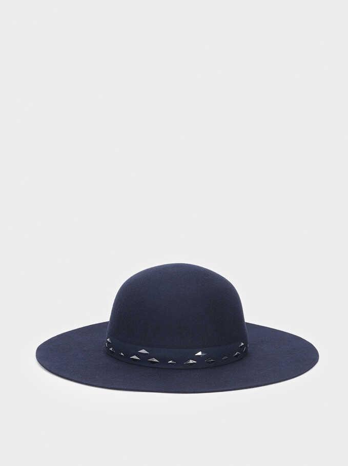 Wool Hat, Navy, hi-res