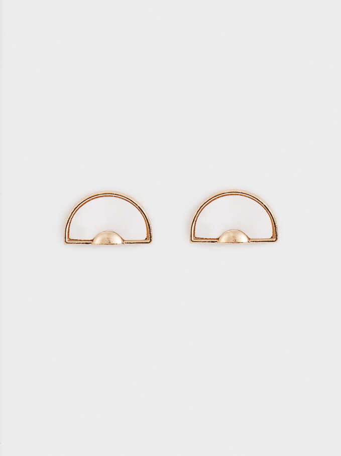 Short Multicoloured Earrings, Golden, hi-res