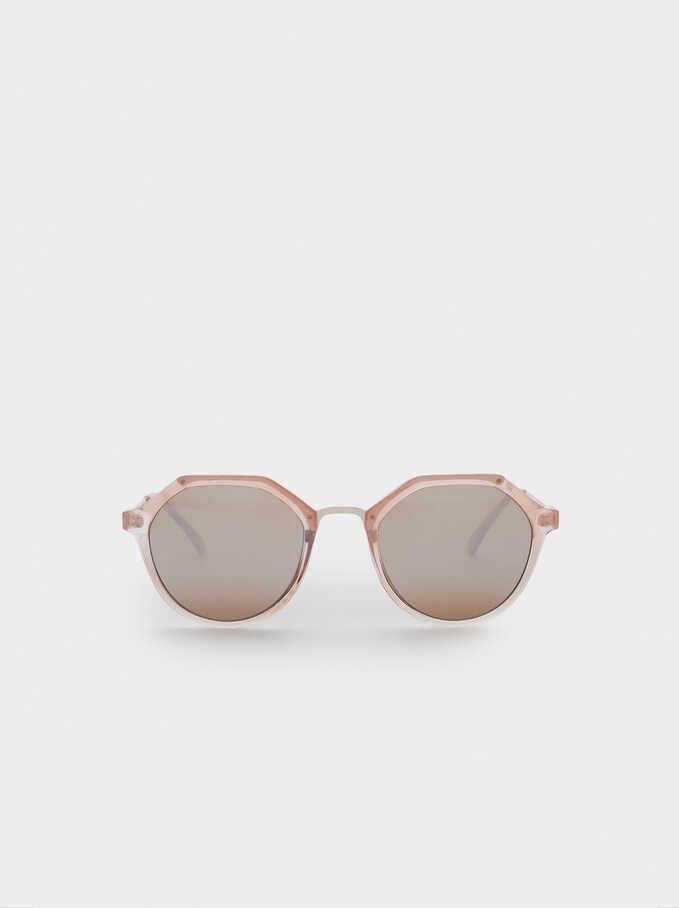 Metal Bridge Sunglasses, Orange, hi-res