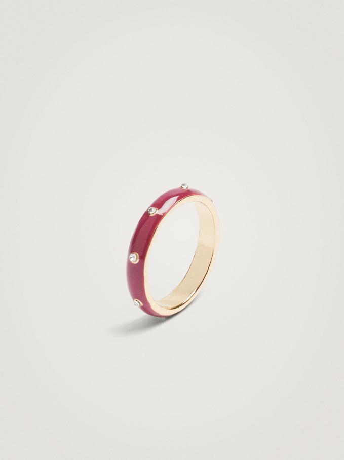 Enamel Ring, Violet, hi-res