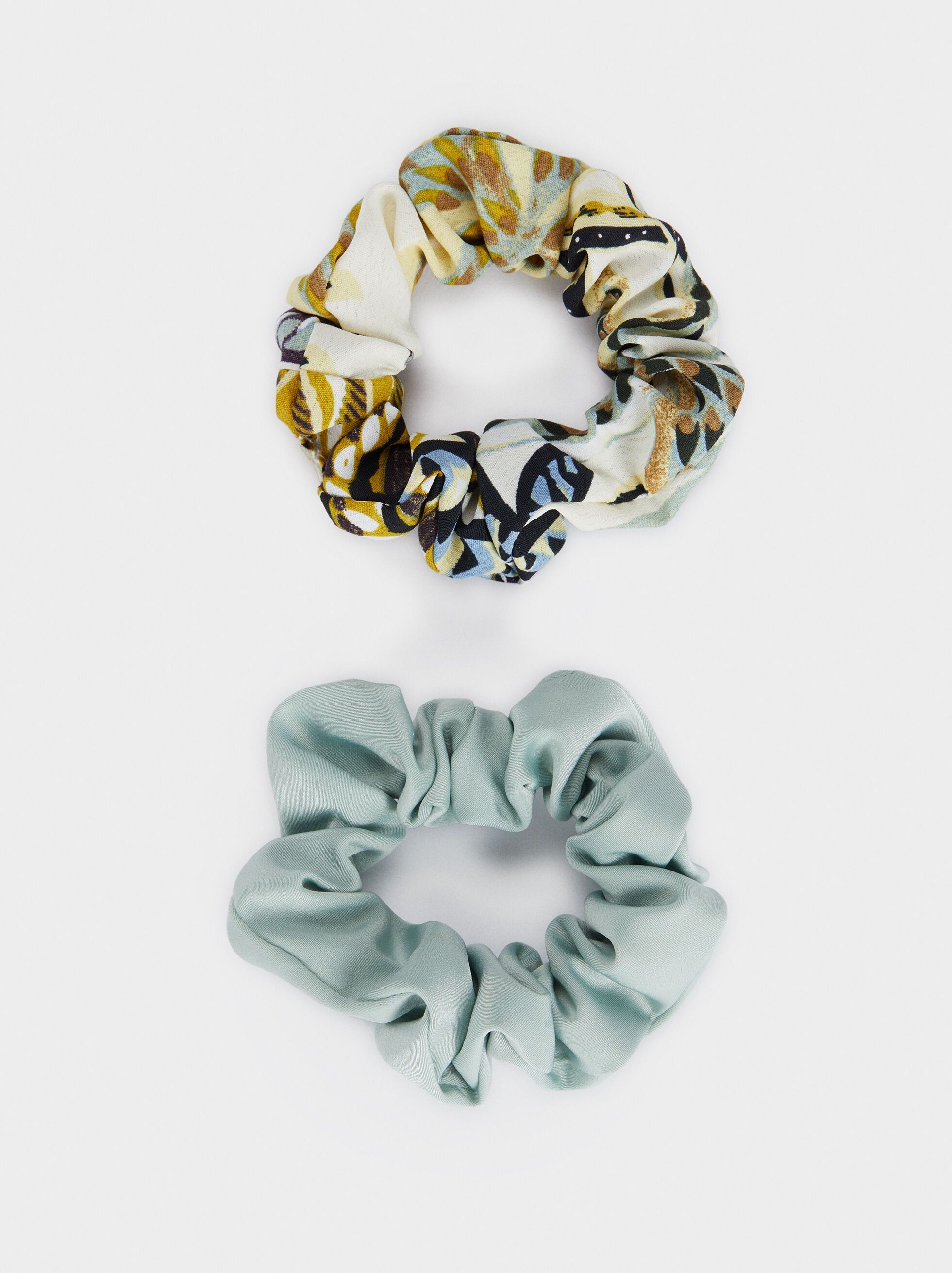 Multi-Coloured Print Scrunchie, Multicolor, hi-res