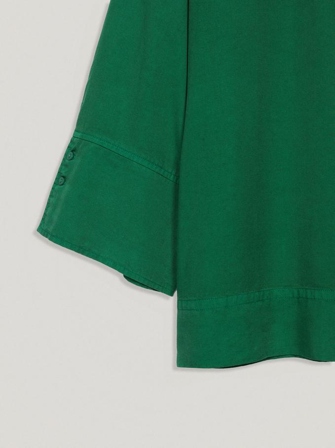 100% Lyocell Shirt, Green, hi-res