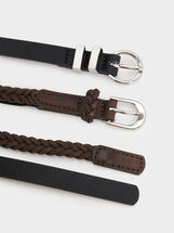 Pack Of Belts, Brown, hi-res