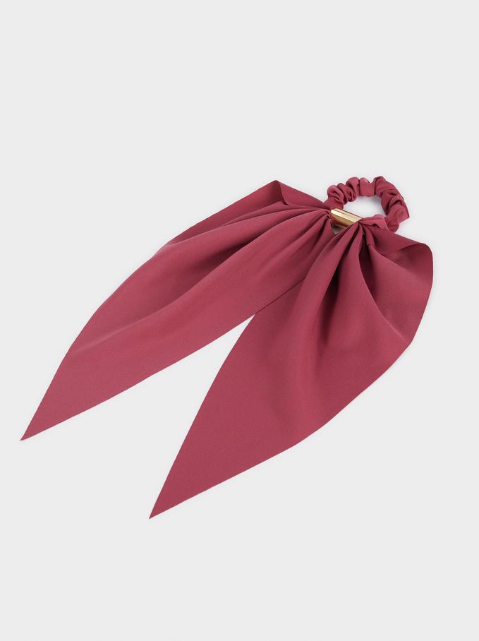 Elastic Hair Tie With Bow, Multicolor, hi-res