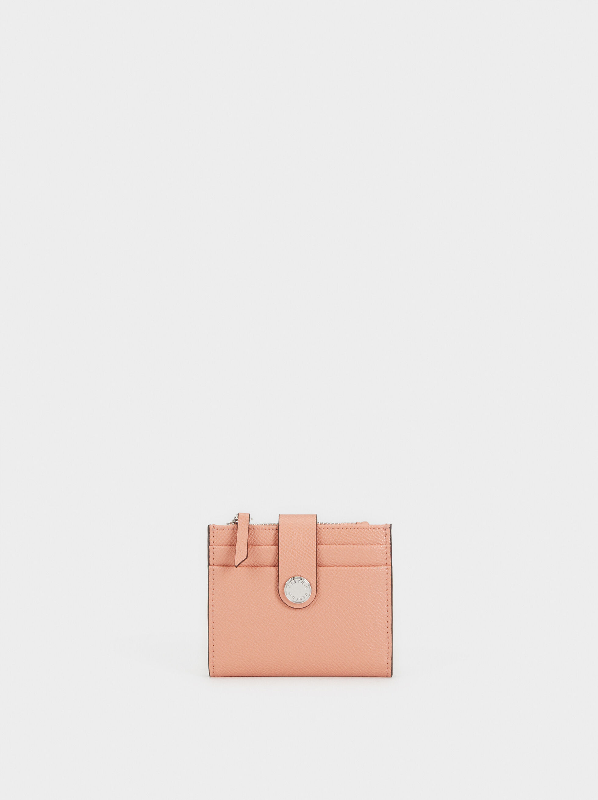Small Embossed Purse, Pink, hi-res