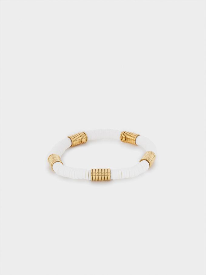 Stainless Steel Elastic Bracelet, Golden, hi-res