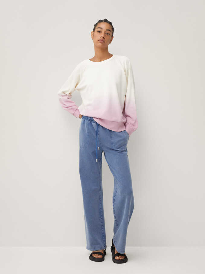 Limited Edition 100% Cotton Sweatshirt, Pink, hi-res
