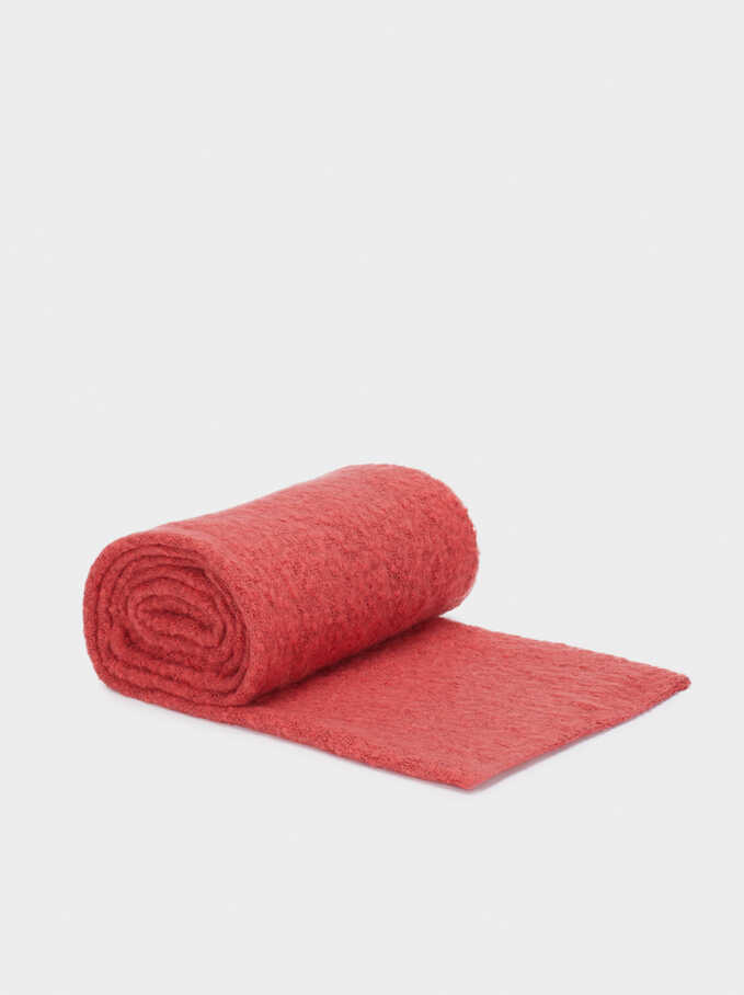 Plain Maxi Scarf, Red, hi-res