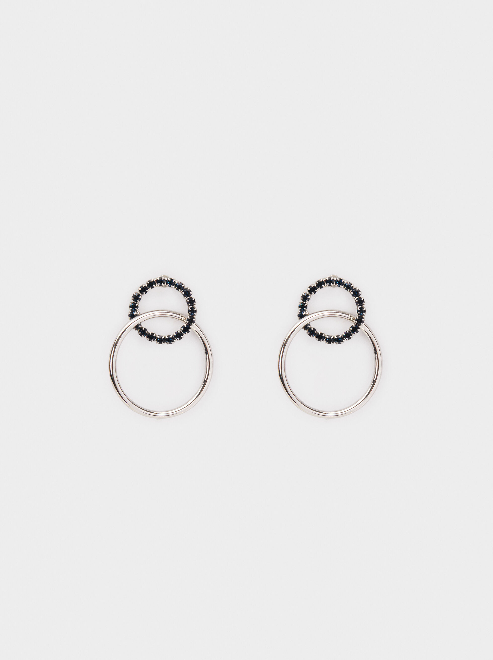 Party Rhinestone Short Earrings, , hi-res
