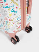 Kiss Travel Trolley, Pink, hi-res