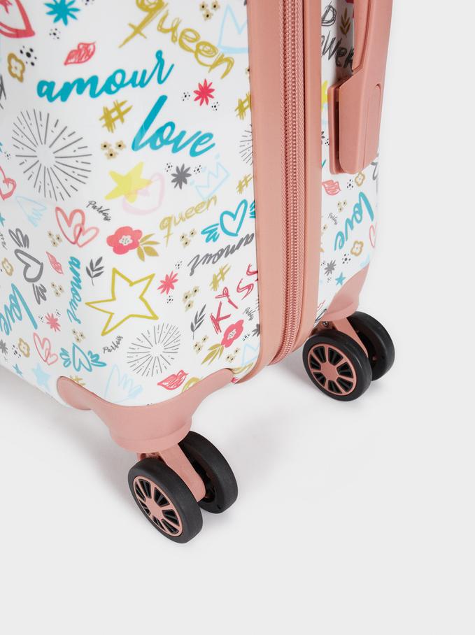 Trolley Estampado Love, Rosa, hi-res
