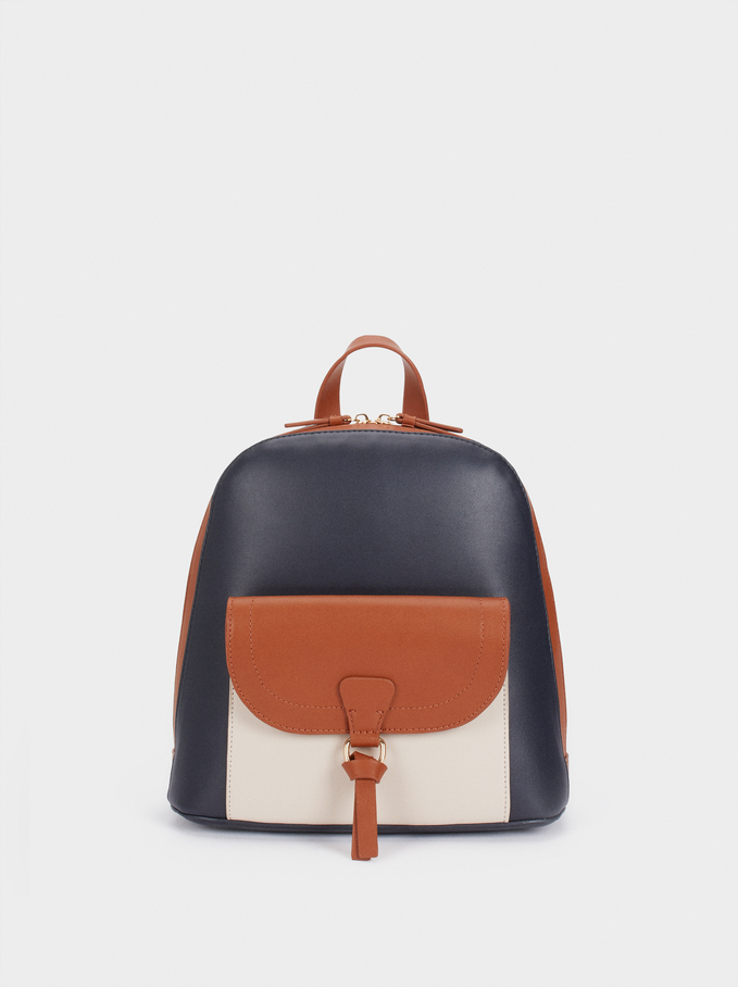Lotus Backpack, Navy, hi-res