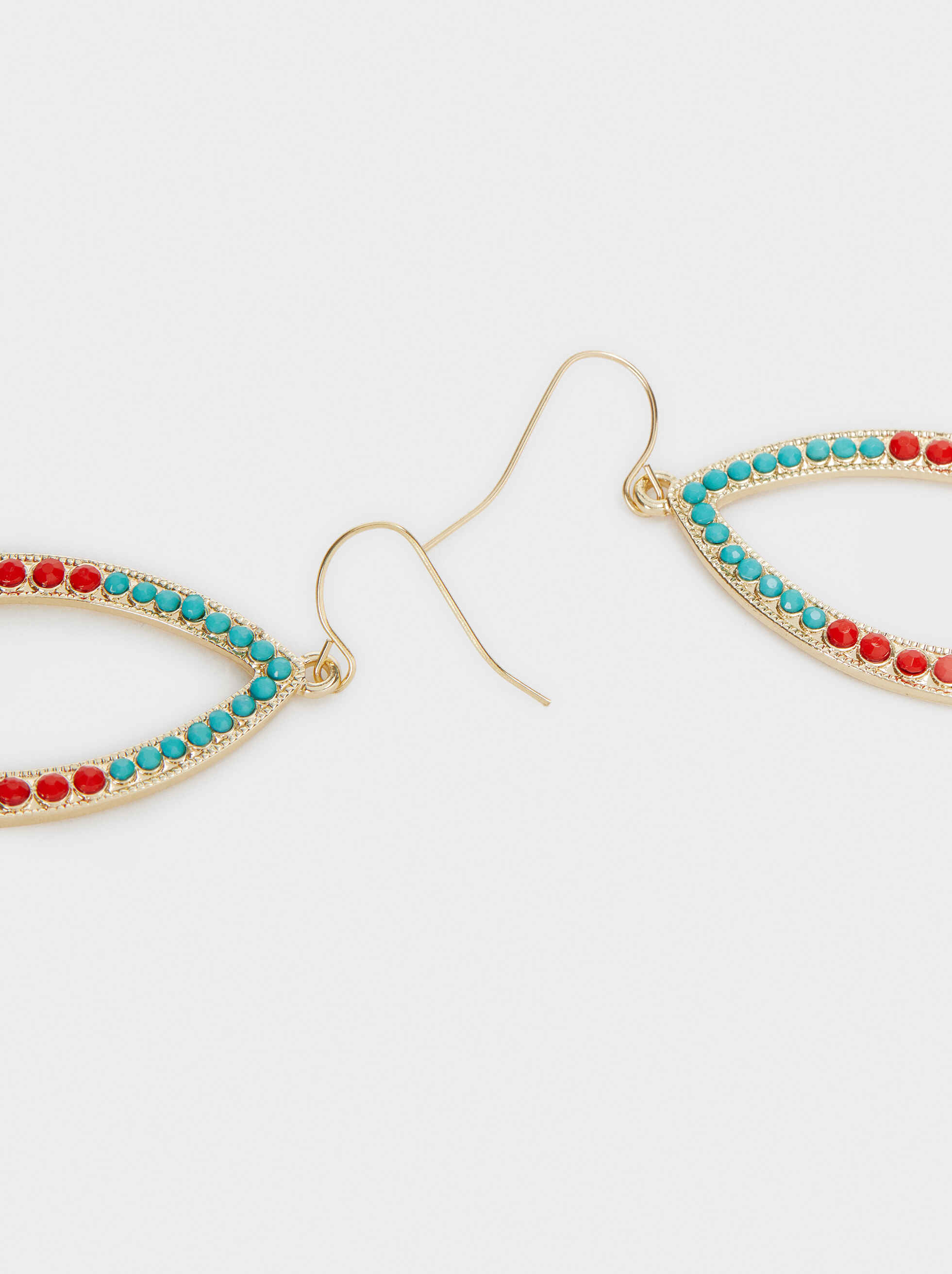 Recife Long Multi-Coloured Drop Earrings, Multicolor, hi-res