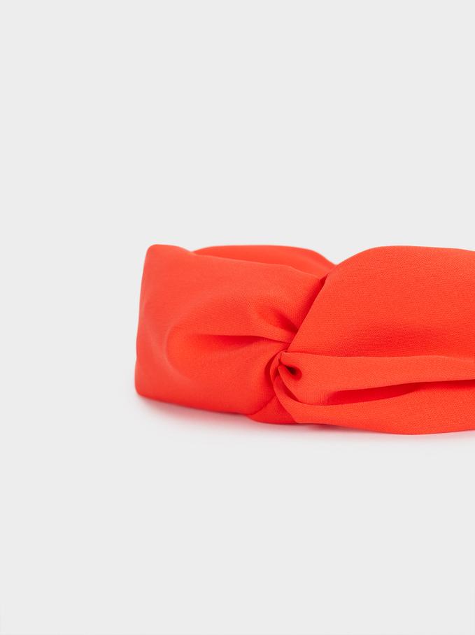 Turban-Style Headband, Coral, hi-res