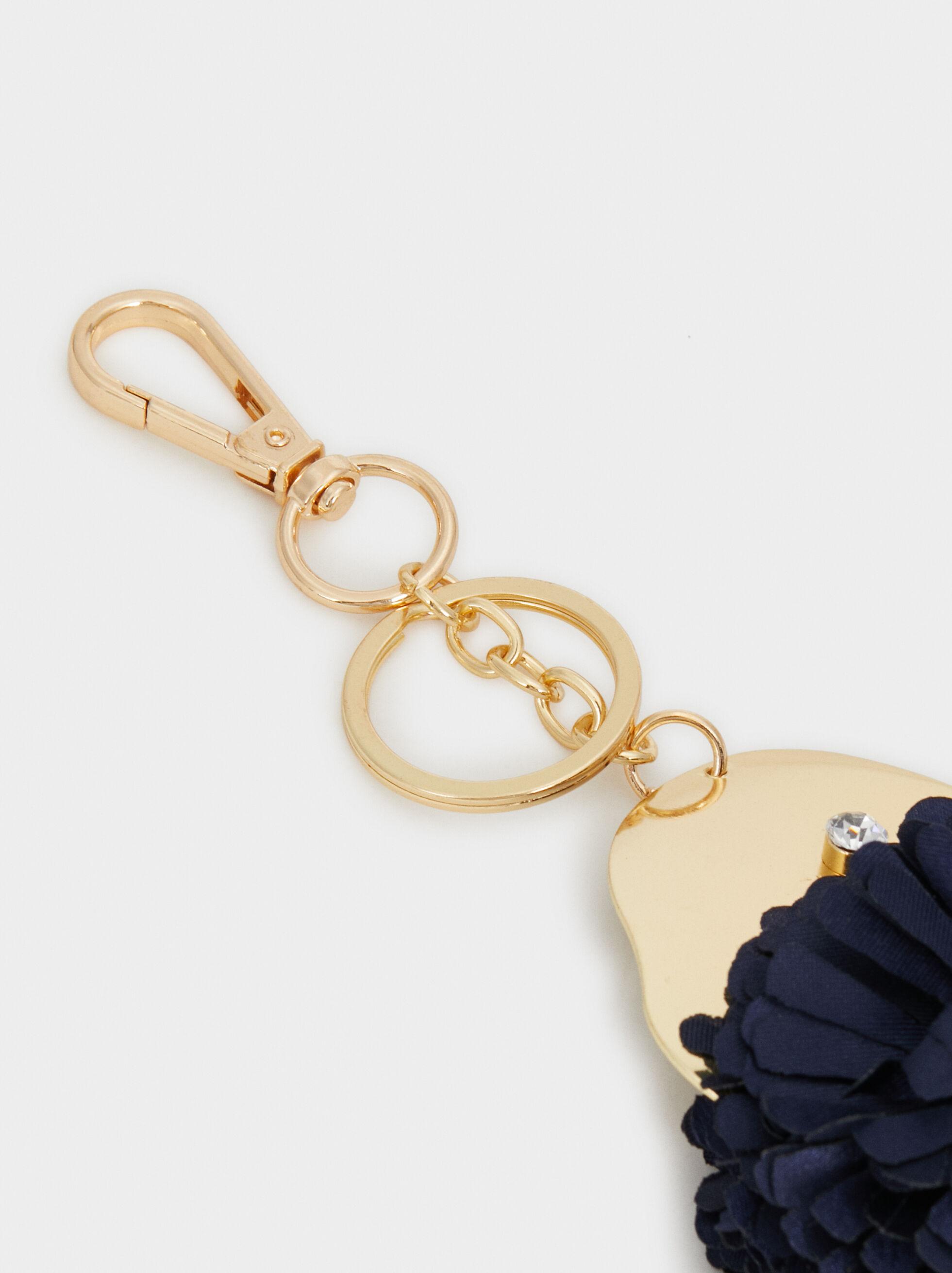 Fish Key Ring, Navy, hi-res