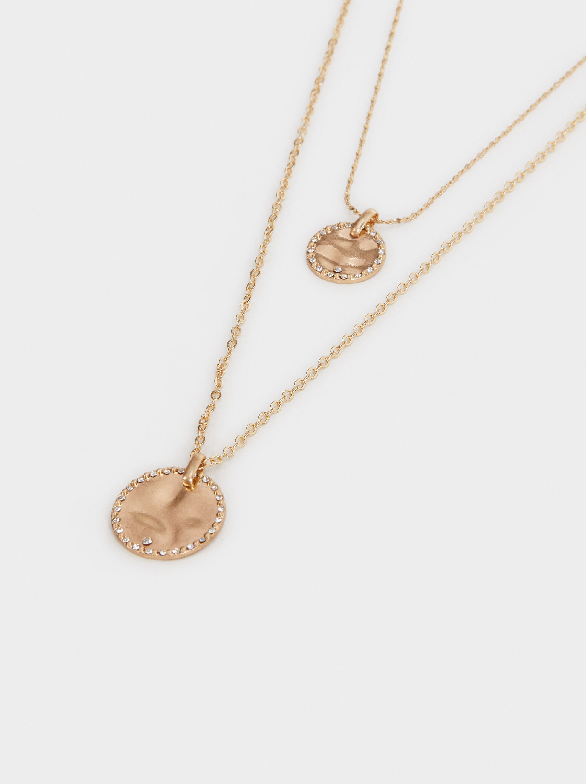 Pendant Necklace Set, Golden, hi-res