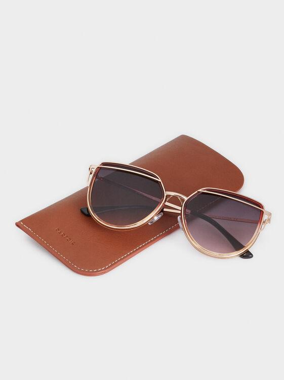 Cat Eye Sunglasses, Golden, hi-res