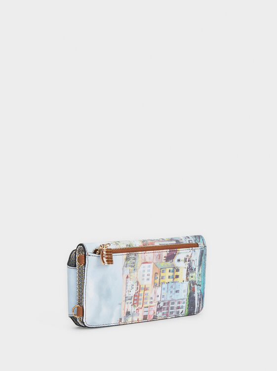 Porto Print Mobile Phone Carrying Case, Blue, hi-res