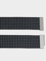 Elasticated Belt With Studs, Black, hi-res