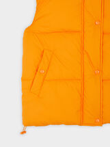 Quilted Gilet With Pockets, Orange, hi-res