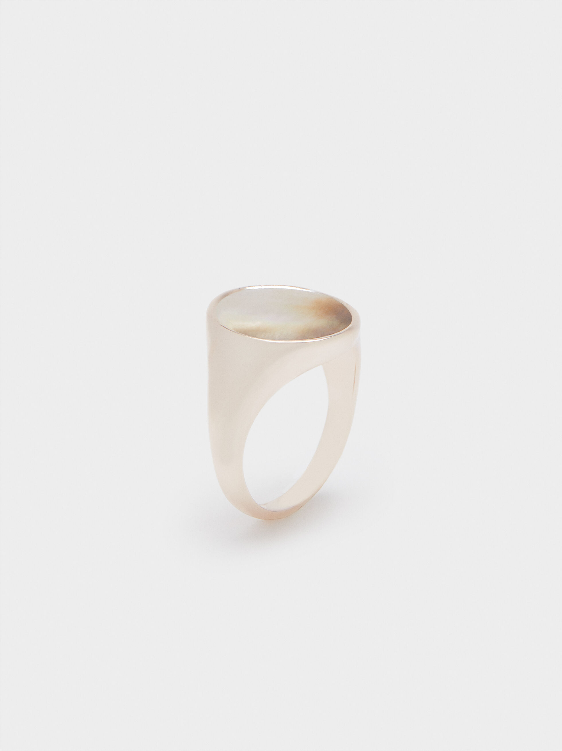 Seashell Signet Ring , , hi-res
