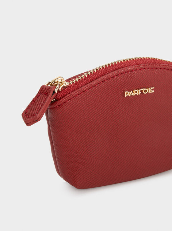 Small Plain Purse, Red, hi-res