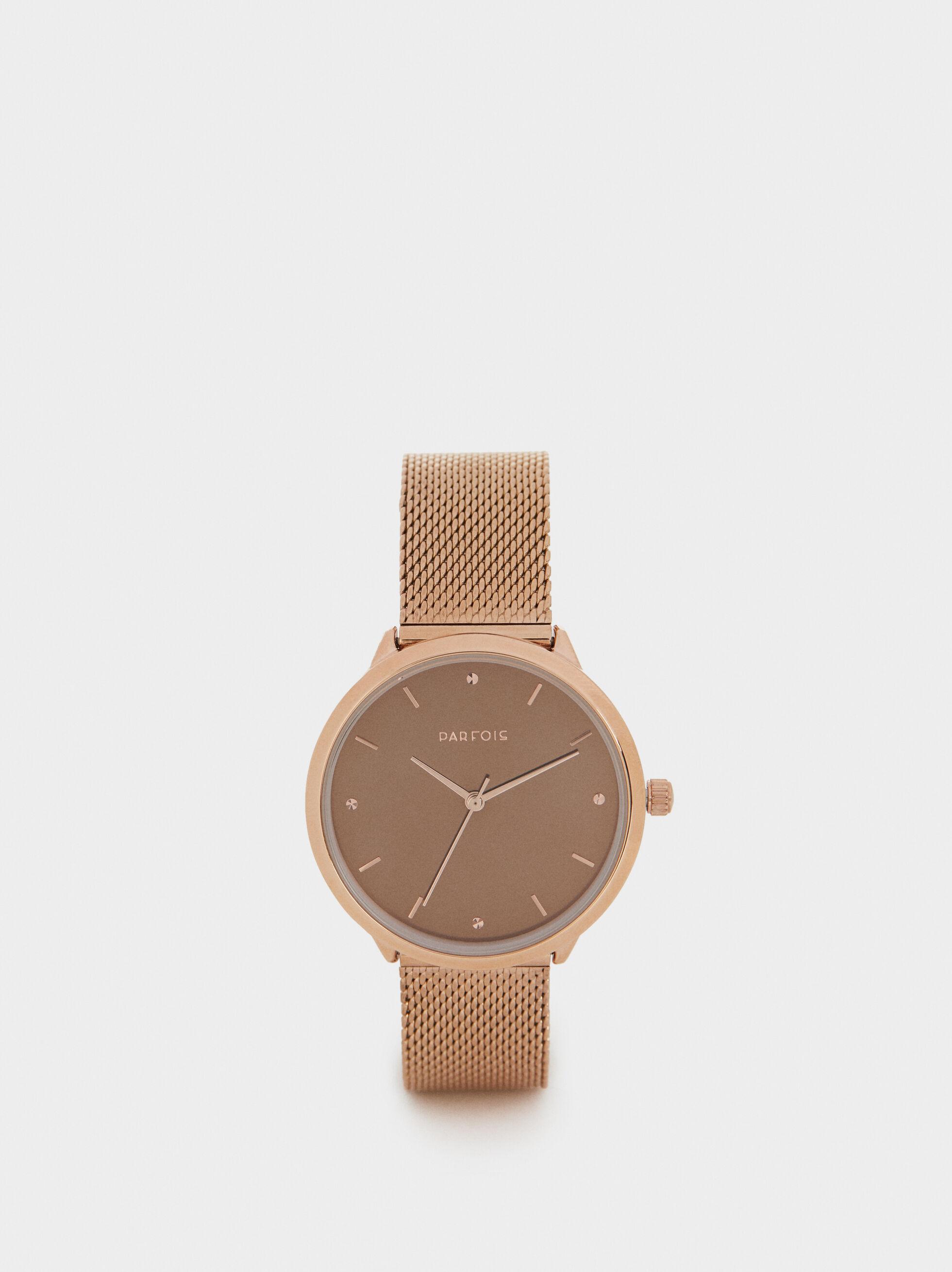 Watch With Metallic Mesh Wristband, , hi-res