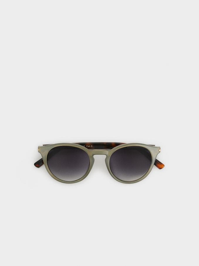 Round Sunglasses, Green, hi-res
