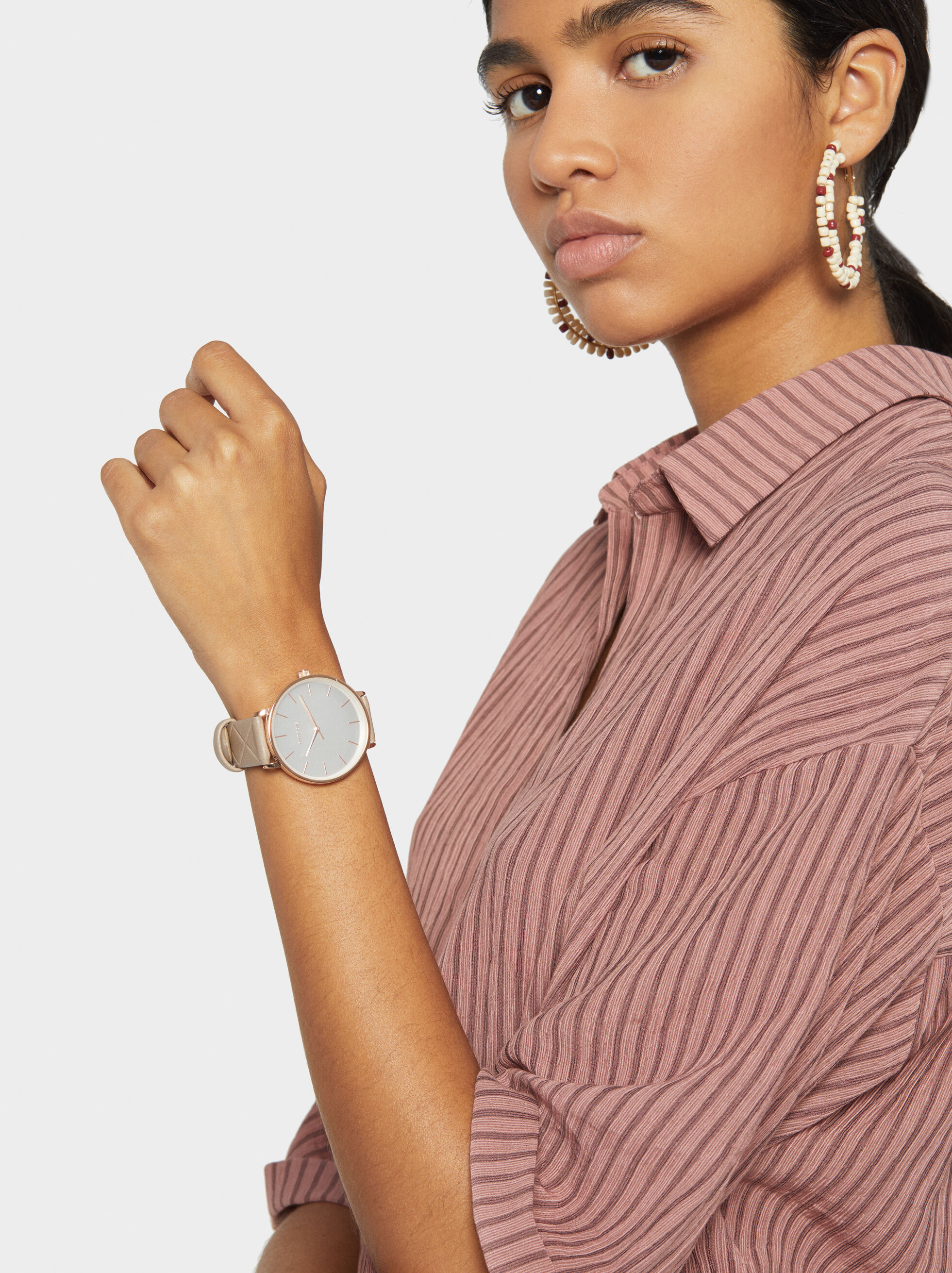 Watch With Interchangeable Wristband, Silver, hi-res
