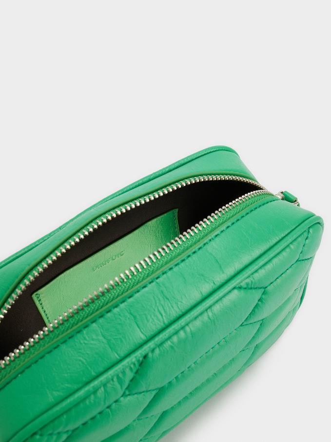 Bolso Bandolera Con Asa Combinada, Verde, hi-res