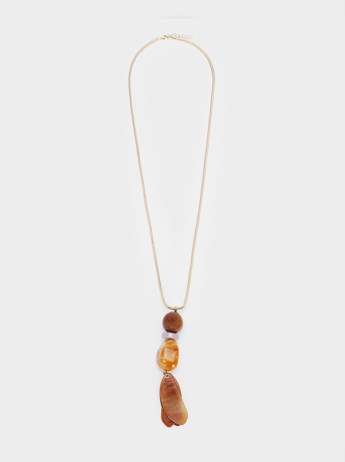 Long Necklace With Pendant, Multicolor, hi-res