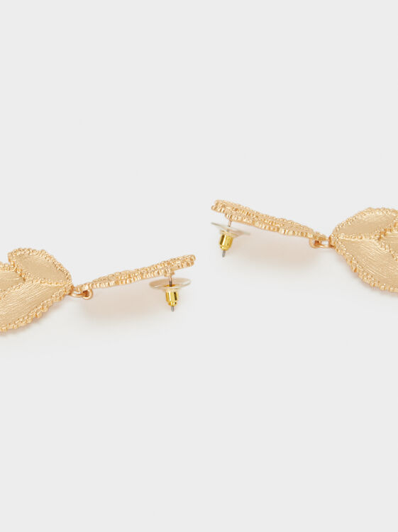 Exclusive Collection Dangle Earrings, Golden, hi-res