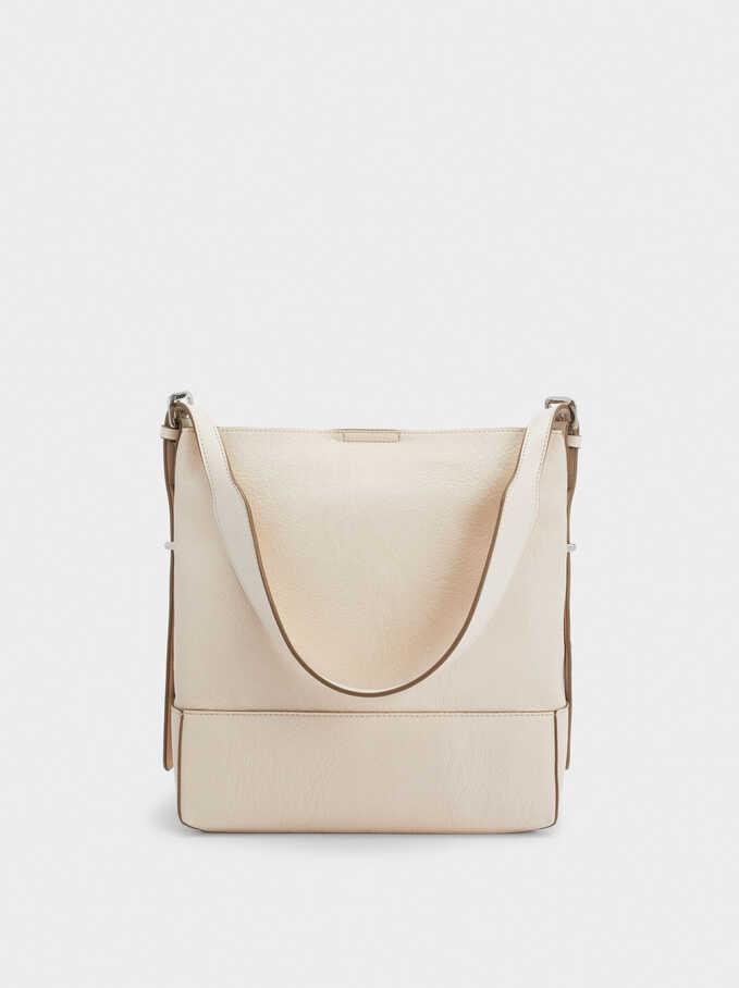 Shoulder Bag With Tacks, Ecru, hi-res