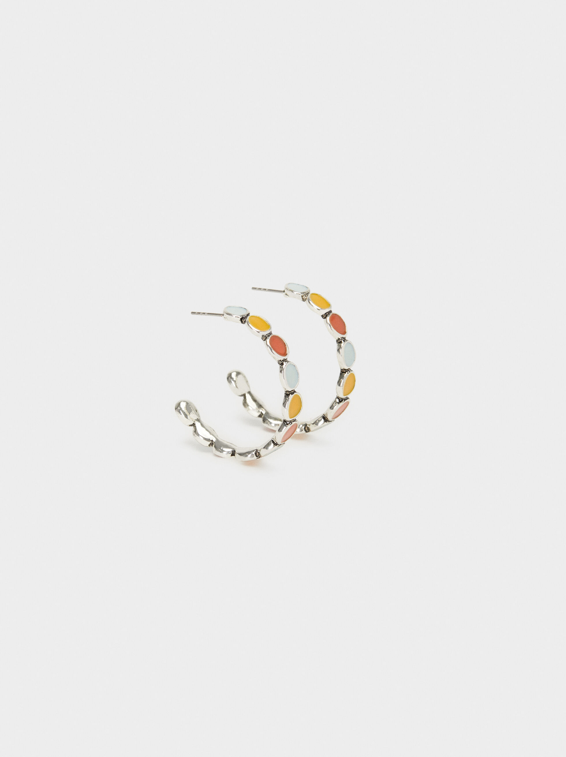 Start Valley Medium Hoop Earrings, Multicolor, hi-res