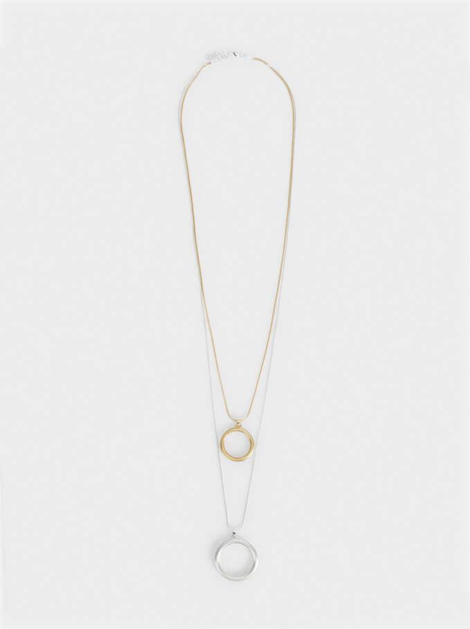 Silver Basics Necklace, Multicolor, hi-res