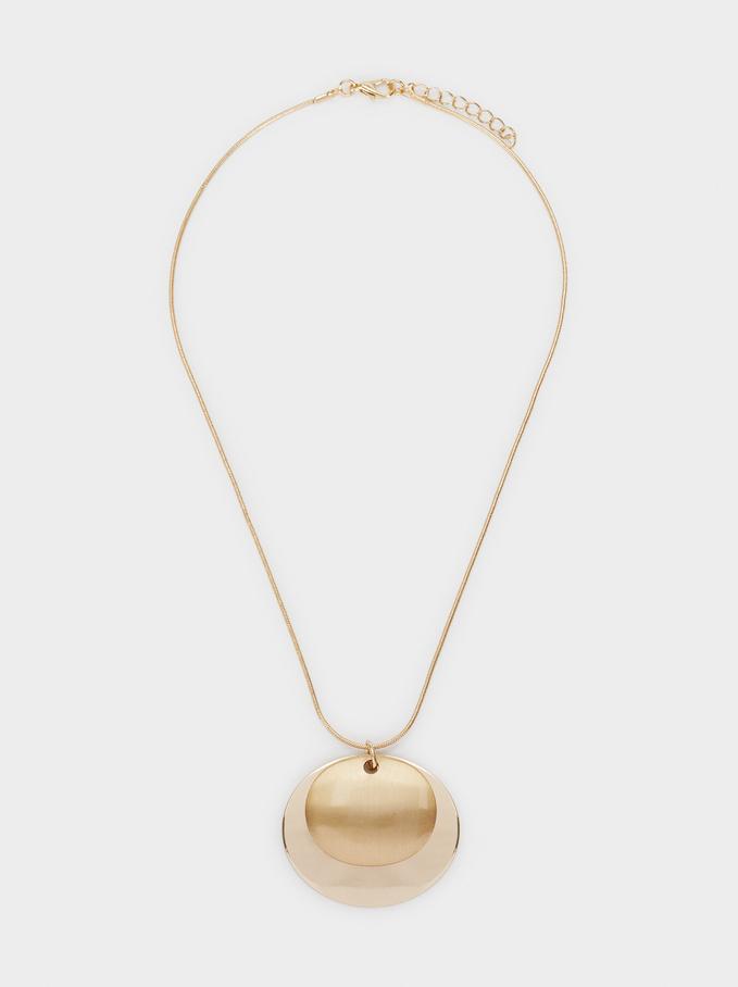 Basic Short Necklace, Golden, hi-res