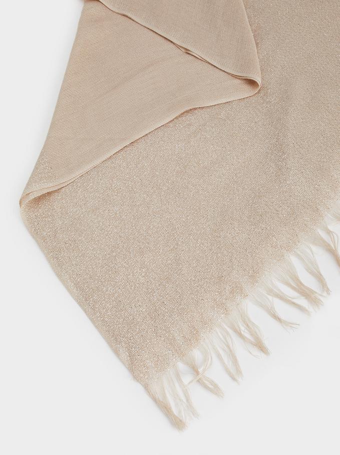 Metallic Basic Scarf, Golden, hi-res