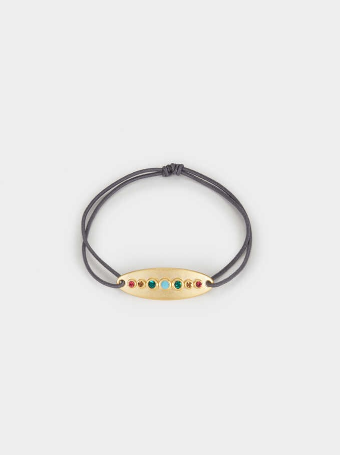 Elastic Silver 925 Bracelet With Zirconia, Multicolor, hi-res