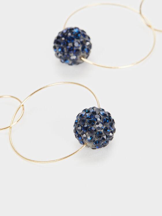 Savage Sparkle Long Earrings, Blue, hi-res