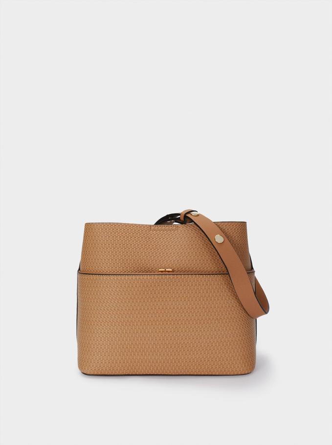 Shoulder Bag With Strap, Camel, hi-res