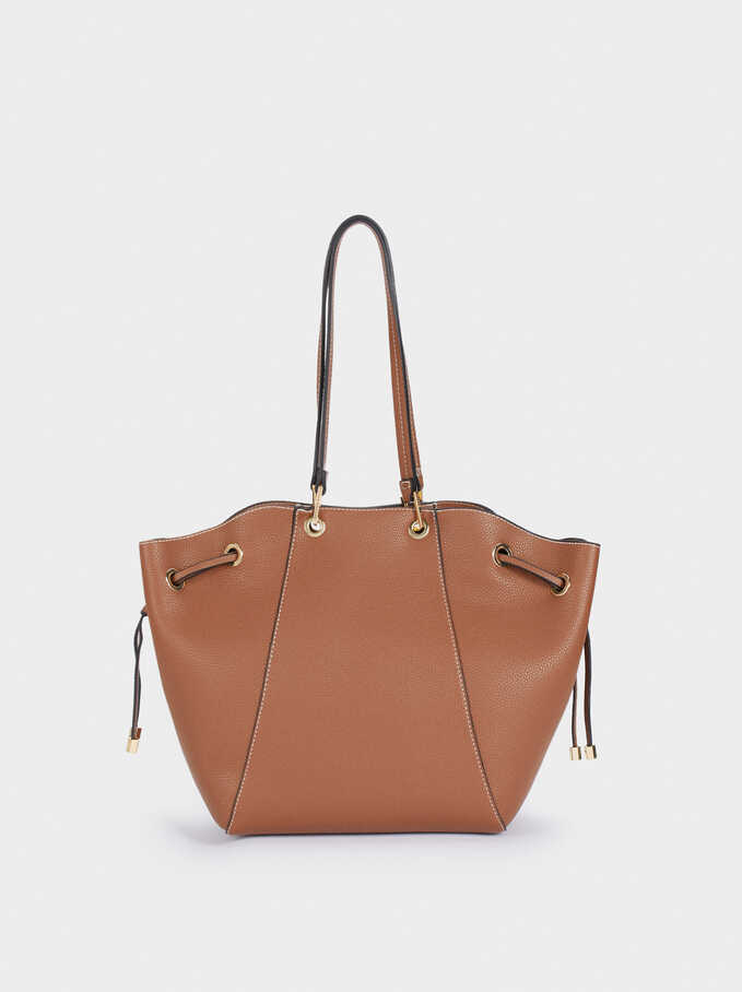Tote Bag With Removable Interior, Camel, hi-res