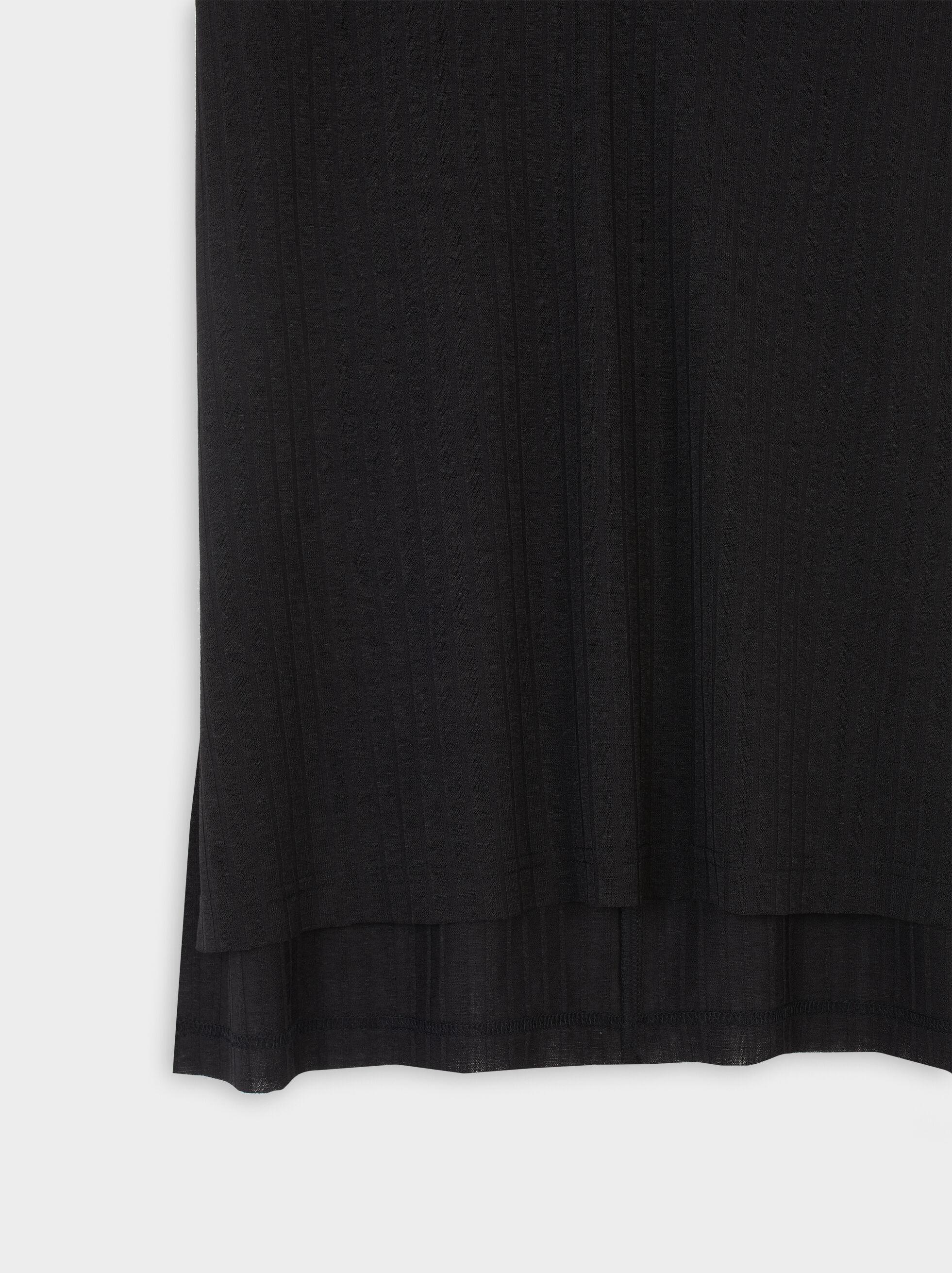 Sleeveless V-Neck Top, Black, hi-res
