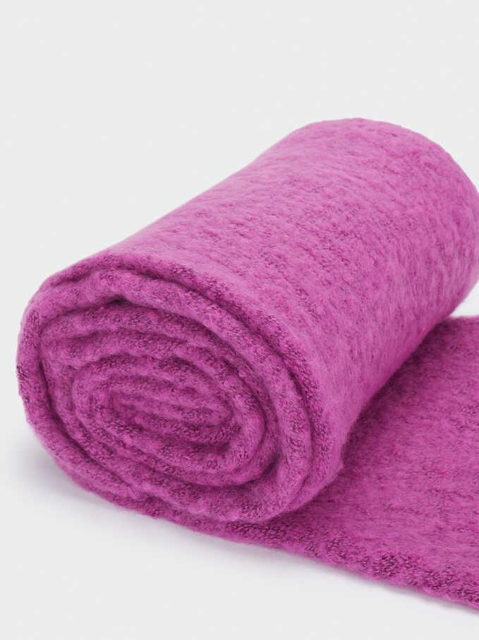 Plain Maxi Scarf, Pink, hi-res