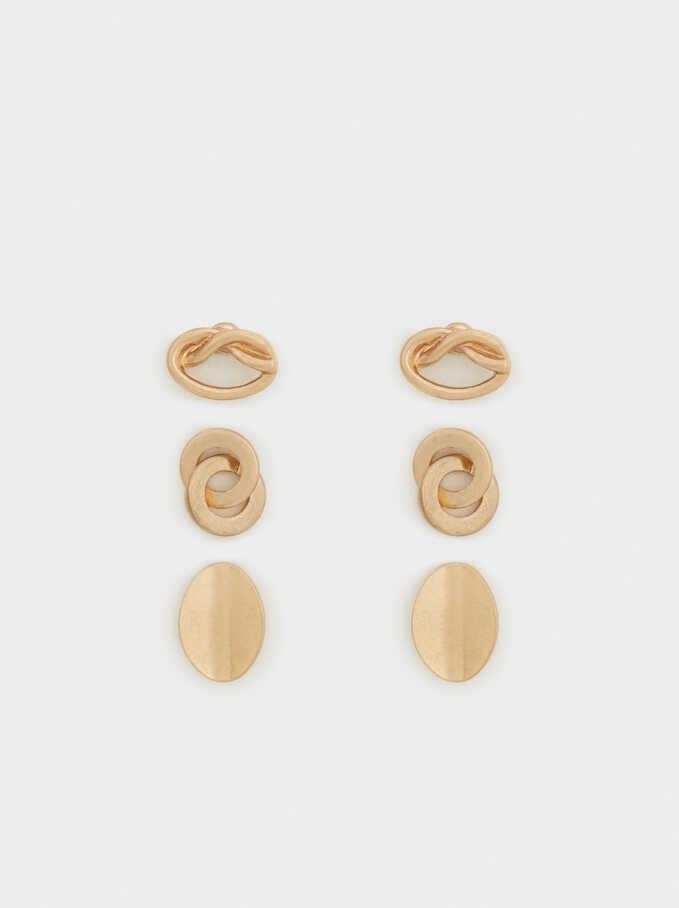 Sorbet Earrings, Golden, hi-res