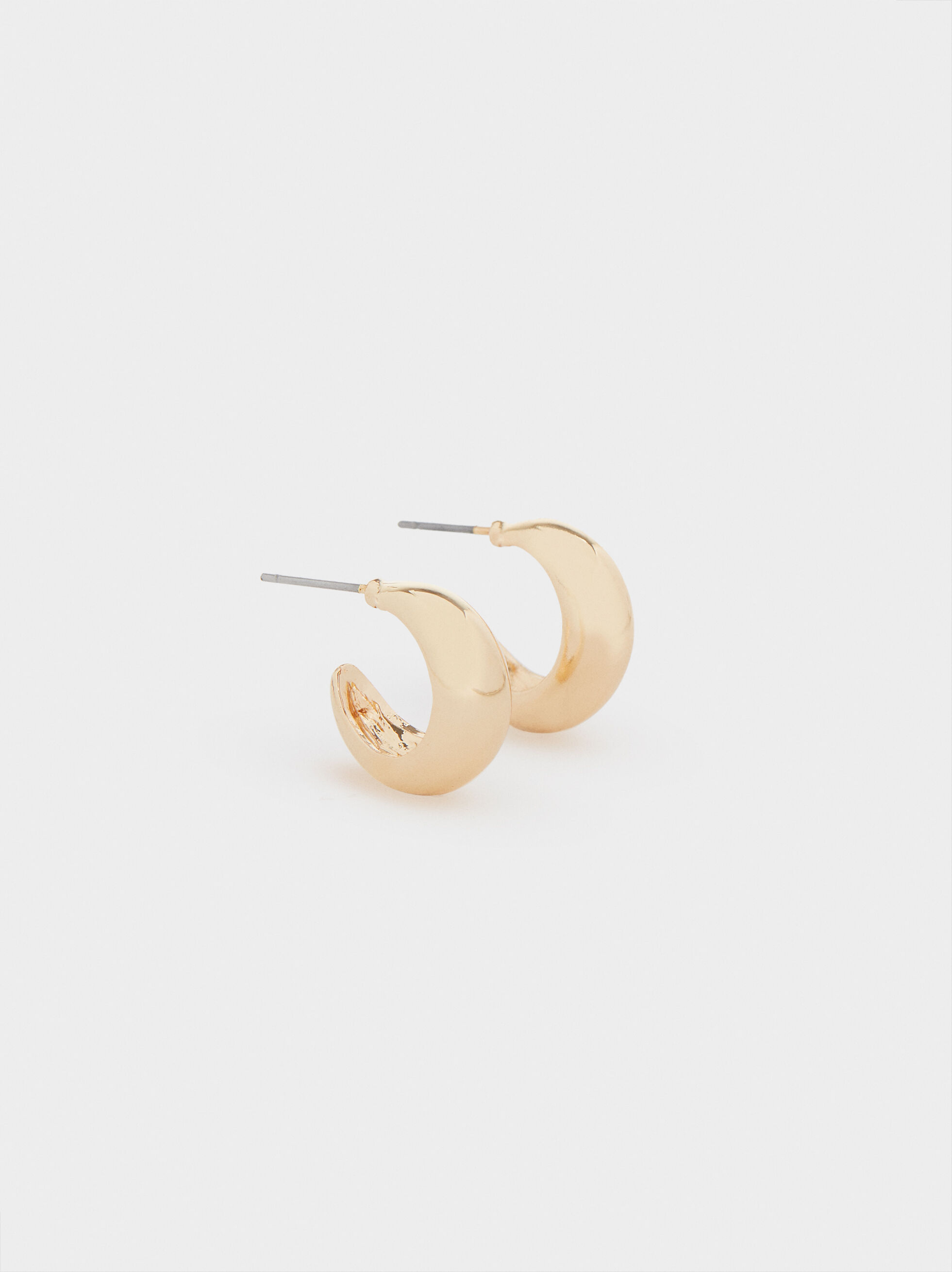 Gold Hoop Earrings , , hi-res