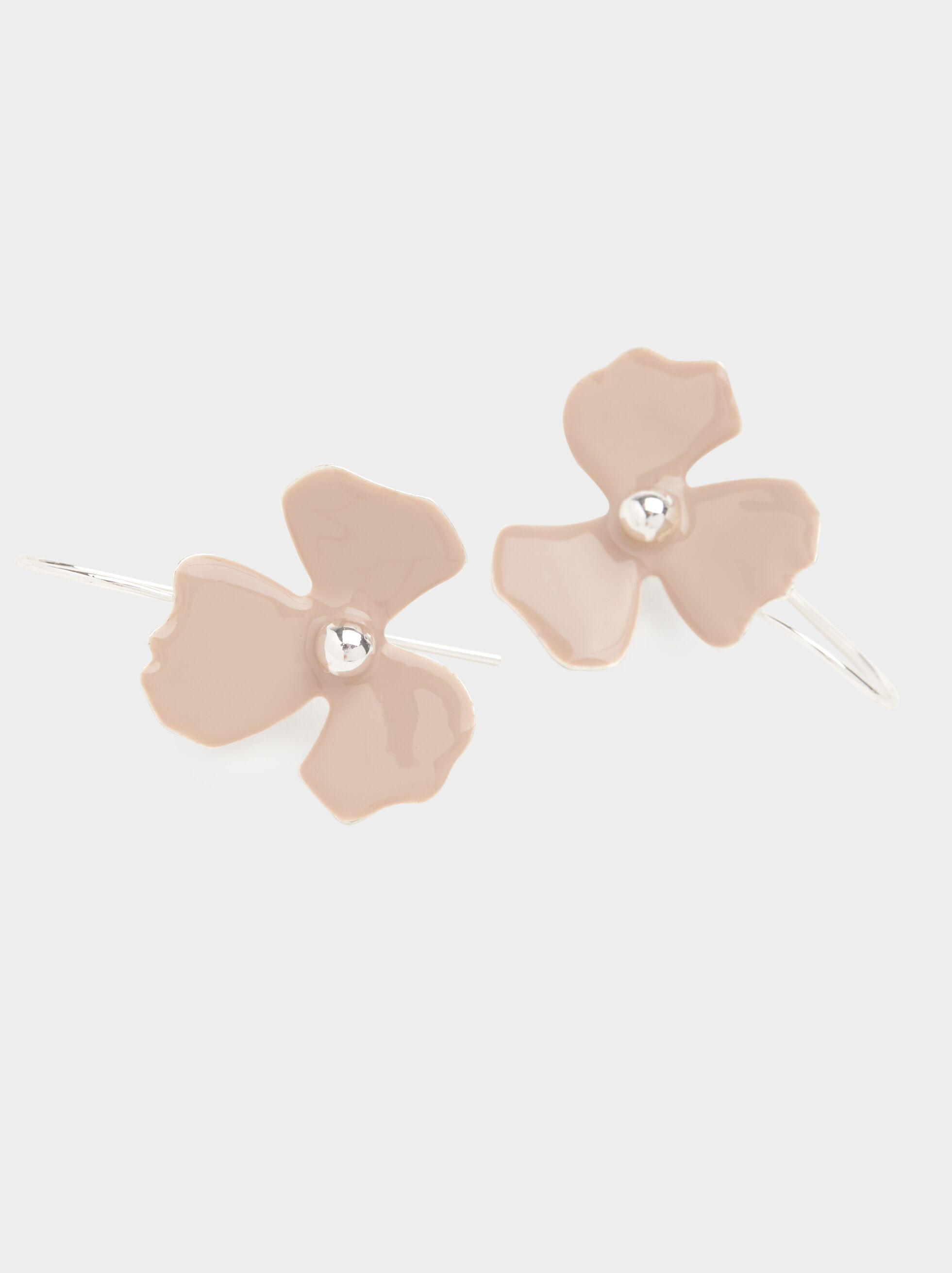 Magnolia Medium Flower-Shaped Earrings, Multicolor, hi-res