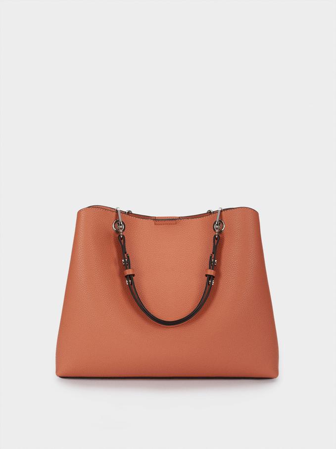 Tote Bag With Adjustable Straps, Coral, hi-res