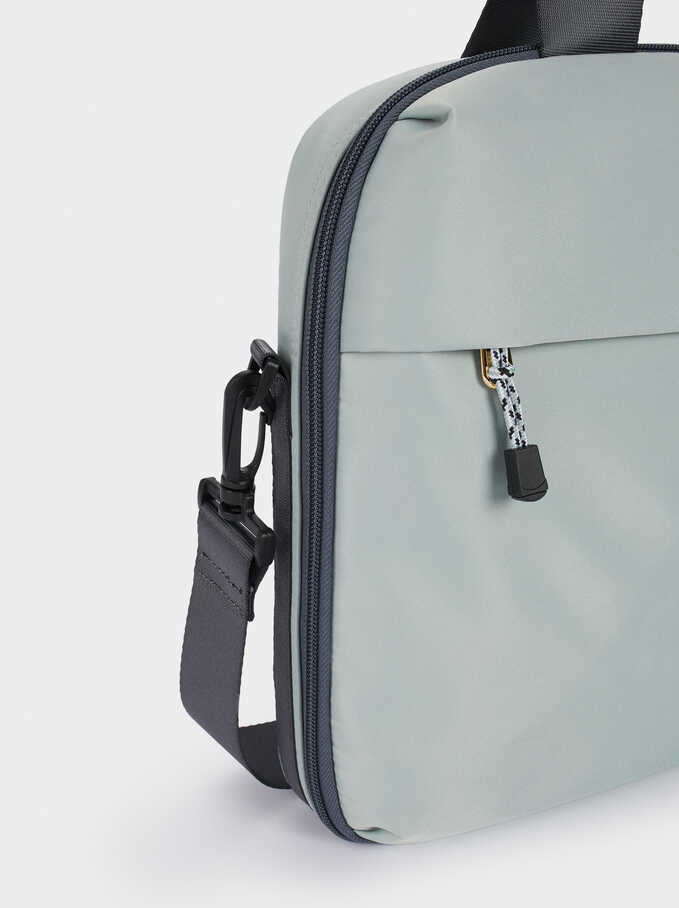 Laptop Case With Removable Shoulder Strap, Blue, hi-res